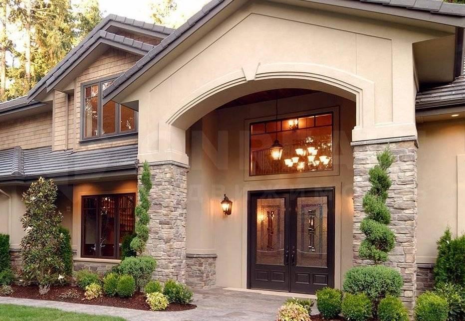 Отделка фасада частного дома: 40 фото-идей и обзор материалов