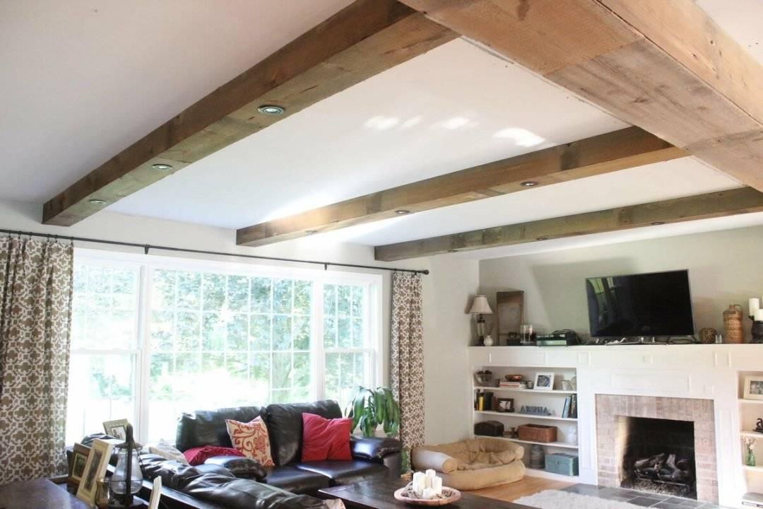 Декоративные балки на потолок своими руками из двп, пенопласта и гипсокартона