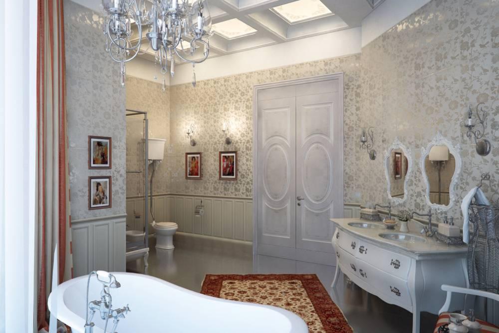 Сказочно прекрасная ванная комната: дизайн в классическом стиле