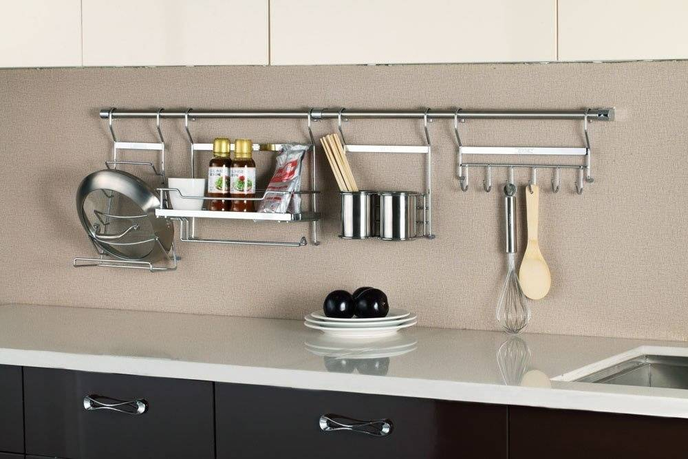 Рейлинги для кухни (100 фото): современные рейлинговые системы для кухни