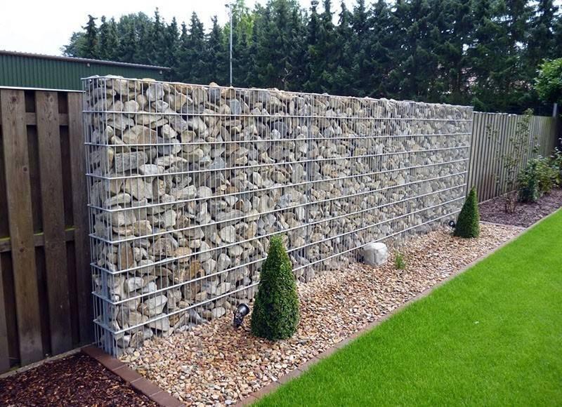 Забор из габионов - разновидности и преимущества