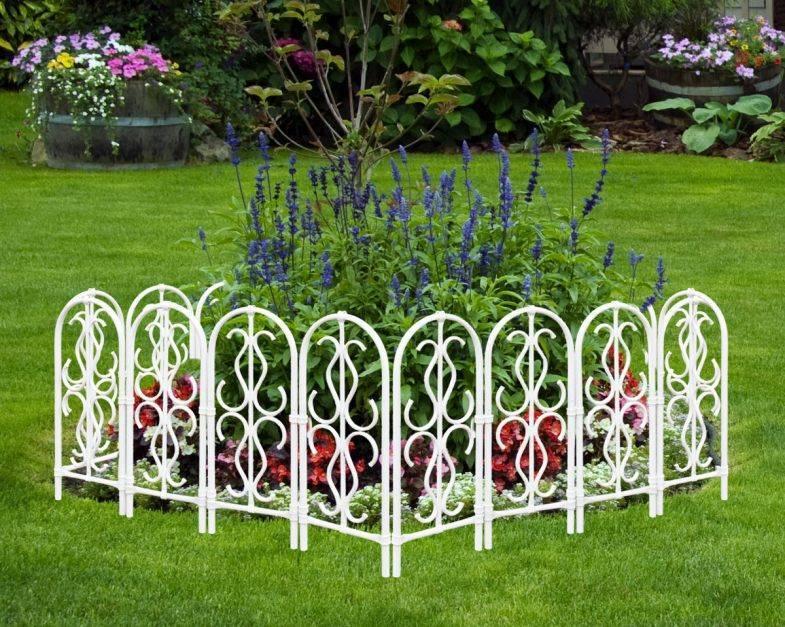 Декоративные заборы для сада и клумб: выкладываем по пунктам