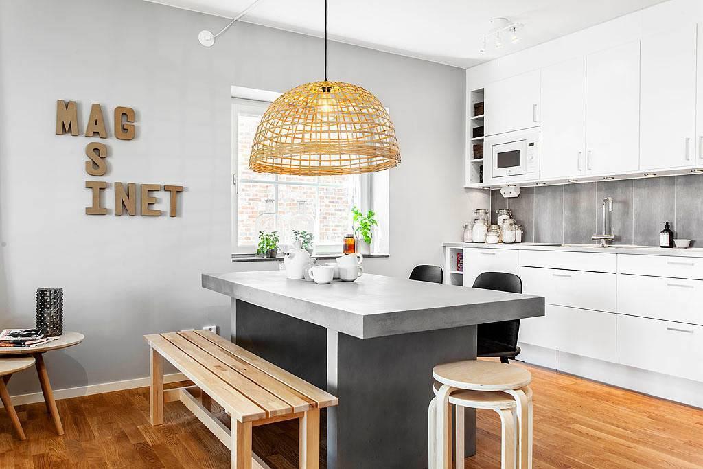 Кухни в скандинавском стиле: 100 фото идей