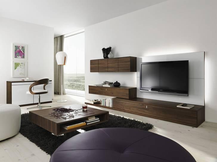 Стенки под телевизор в гостиную в современном стиле (50 фото интерьеров)
