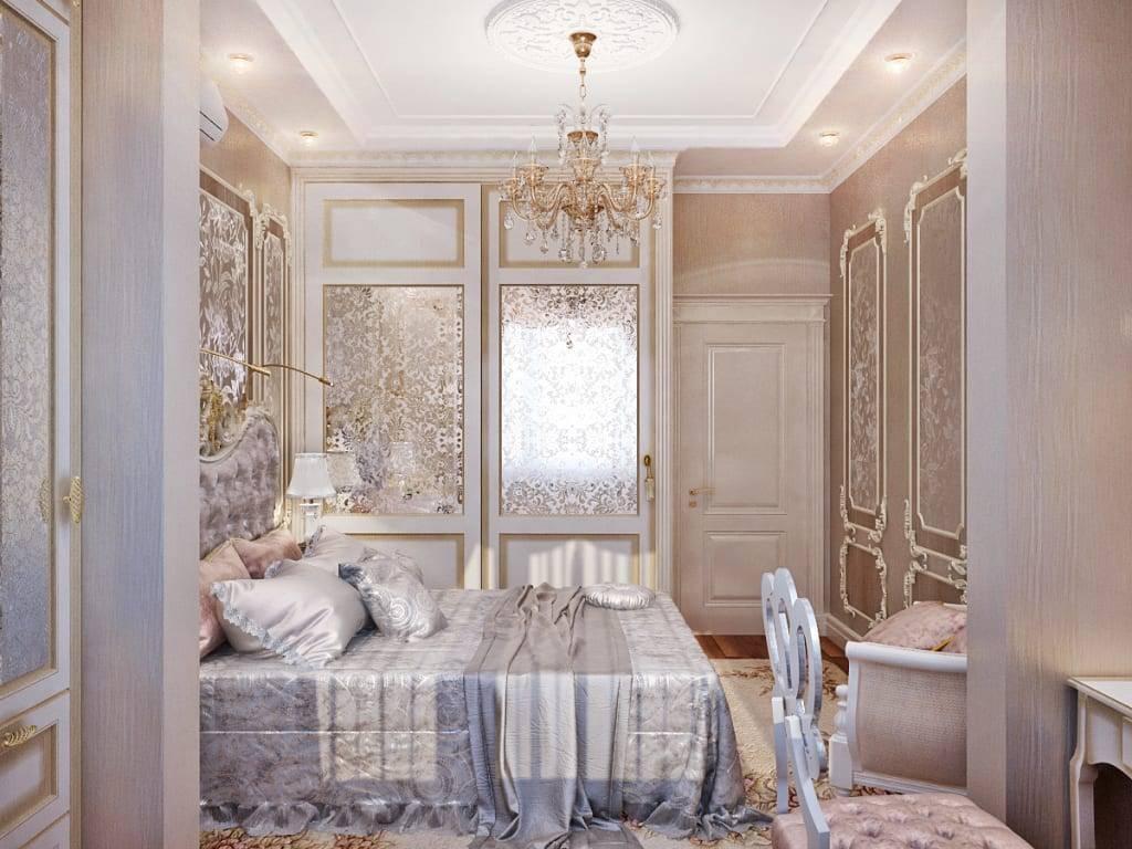 Дизайн спальни в классическом стиле, в том числе особенности интерьера в светлых тонах + фото