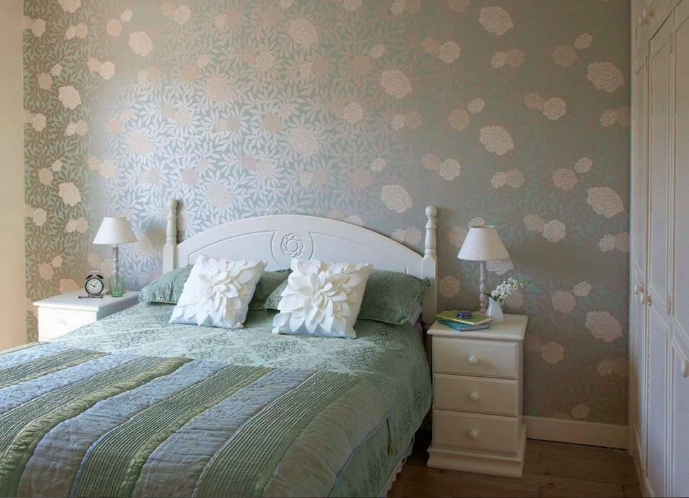 Лучшие 3 варианта обоев в спальню: комбинирование, фото и дизайн