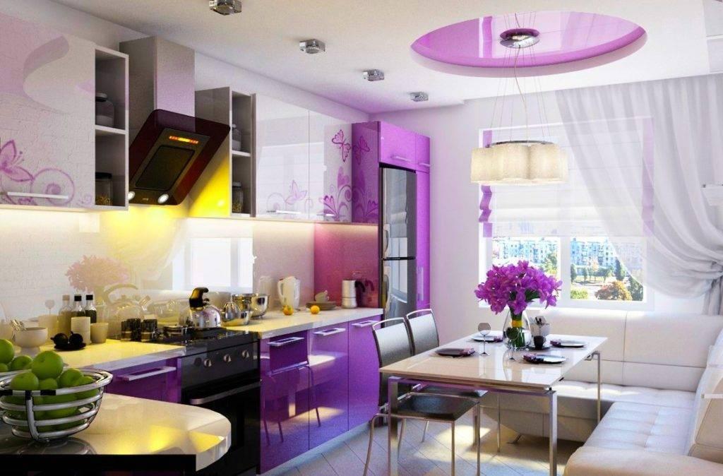 Фиолетовая кухня: 170+ (фото) сочетаний цветов для дизайна