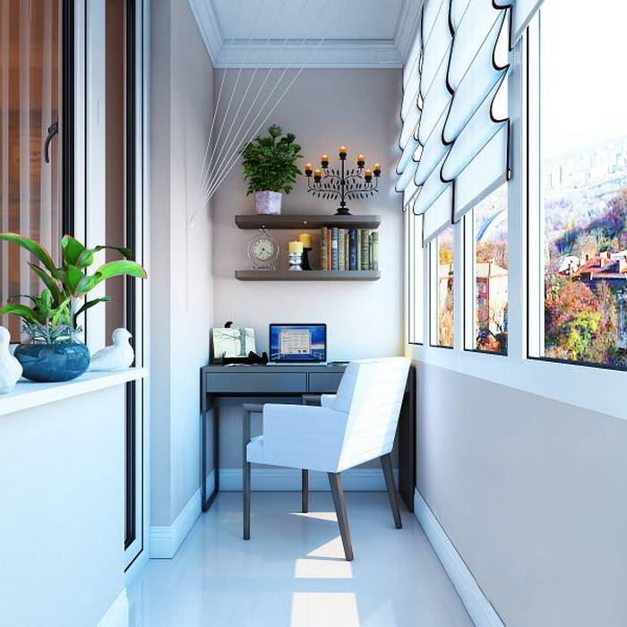 Кабинет на балконе – как его оформить? обзору лучших идей на 75 фото!
