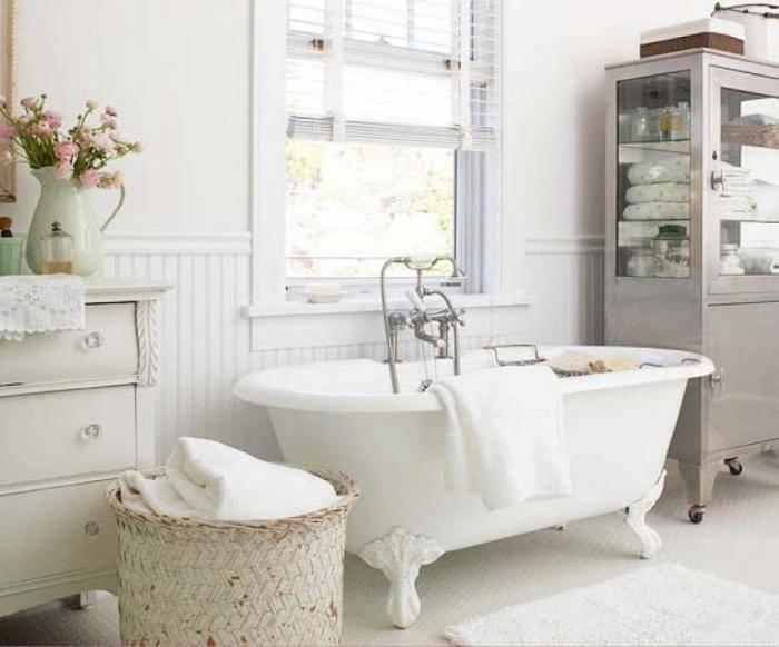 Интерьер в стиле шебби-шик: спальня vs ванная