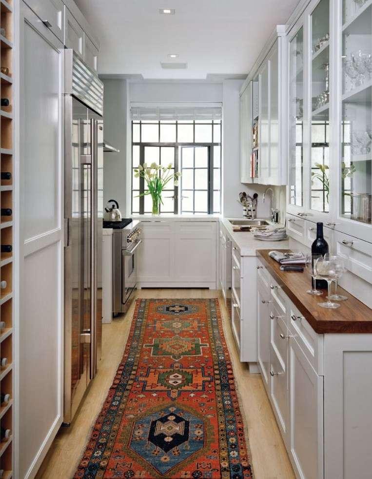 Дизайн узкой кухни: как оформить кухонный интерьер вытянутой планировки в квартире или доме