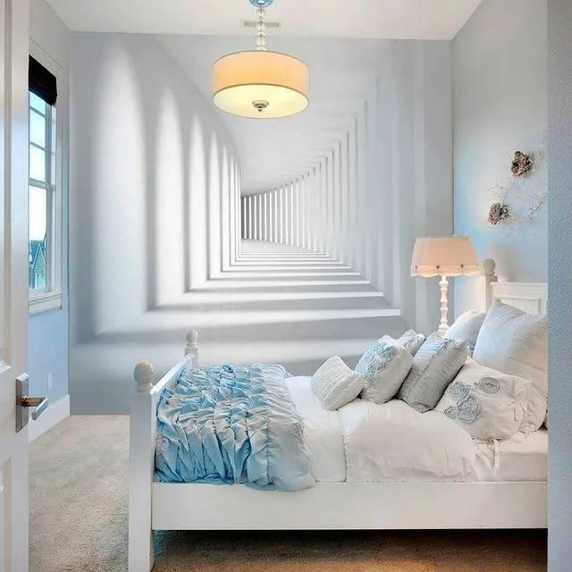 Обои для маленькой комнаты: какие выбрать, чтобы зрительно увеличить пространство (фото)