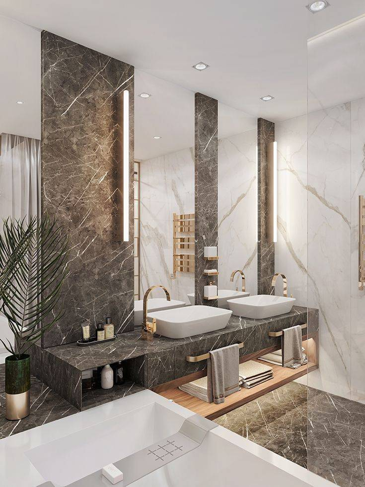 90 новинок в дизайне ванной комнаты в 2020-2021 годах