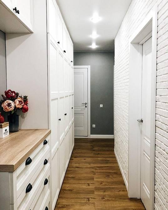 Дизайн узких коридоров (98 фото): интерьер длинного коридора в квартире, идеи и решения для «хрущевки» 2021