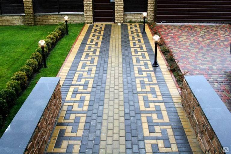 Разновидности тротуарной плитки во дворе частного дома