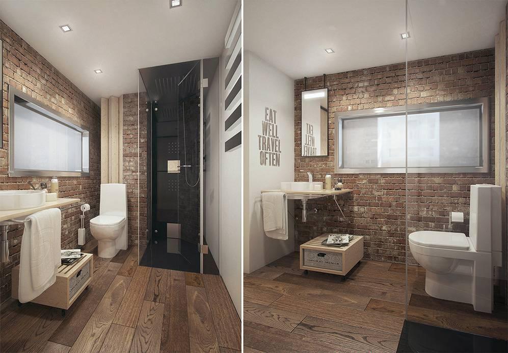 Ванная лофт-комната: обустраиваем правильно