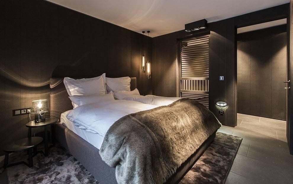 Спальня с темной мебелью: дизайн интерьера и примеры оформления