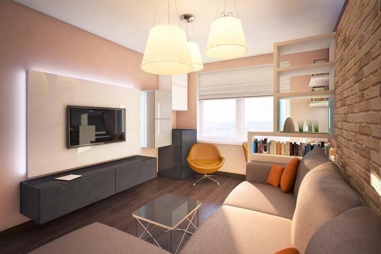 Дизайн кухни-гостиной 17 кв. м. с зонированием: 50 фото интерьеров