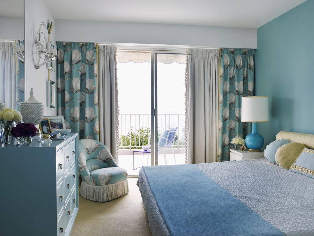 Голубая спальня - 59 фото вариантов идеального дизайна спальни с голубым оттенком