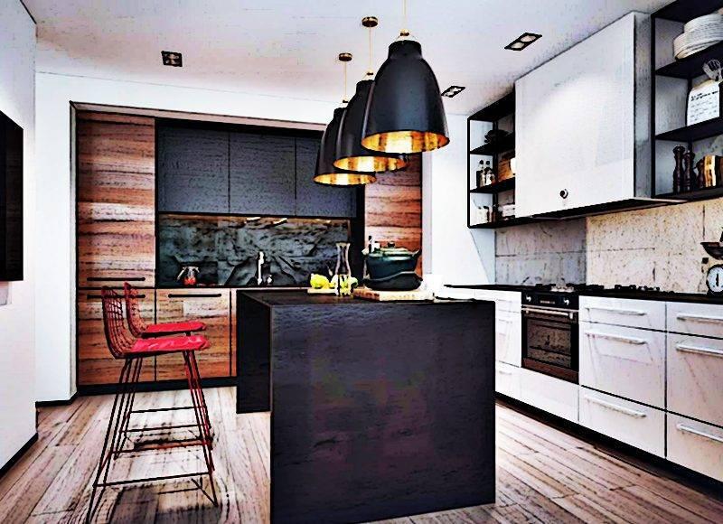 Современный дизайн маленькой кухни гостиной в частном доме. новинки 2019-2020 года + 130 фото