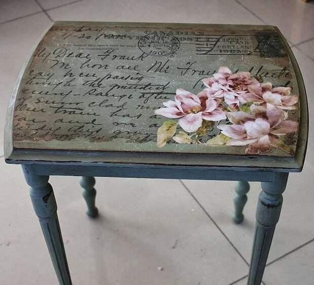 Декор старого стола своими руками: 14 легких идей