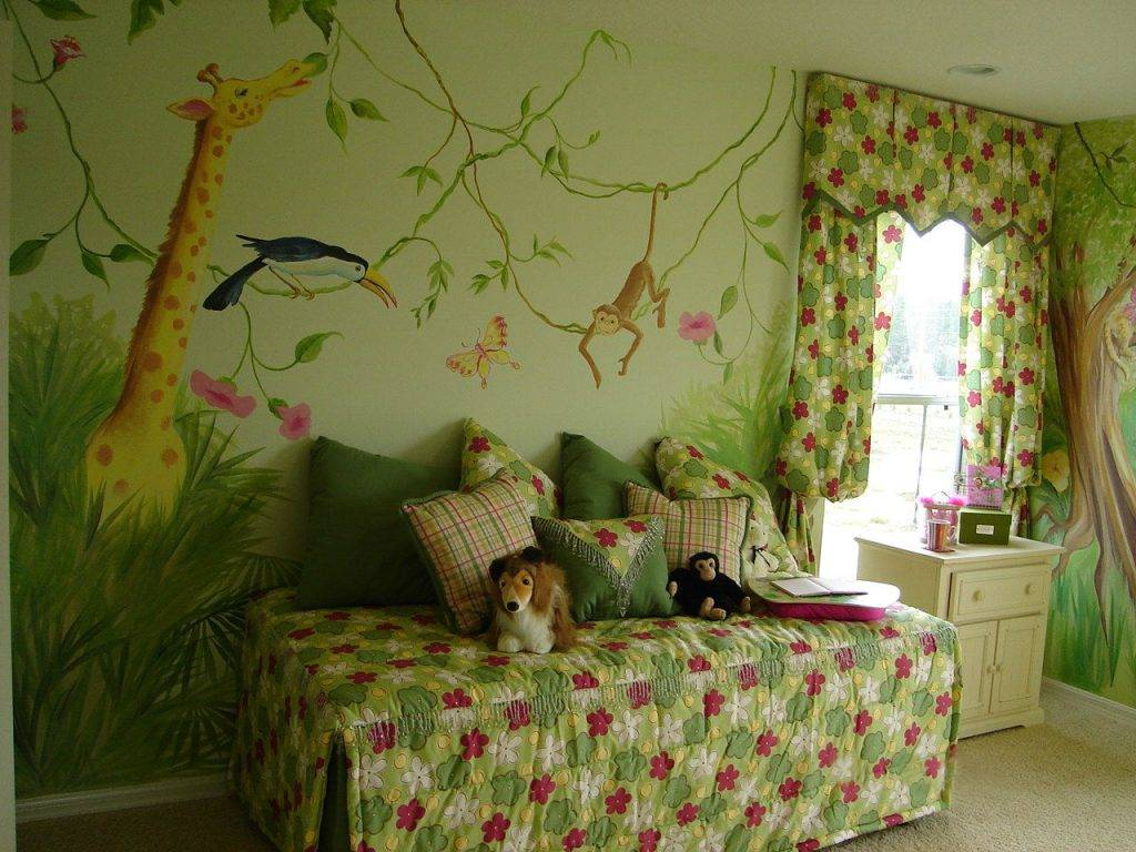 Обои в детскую комнату для девочек: 68 современных идей, фото в интерьере