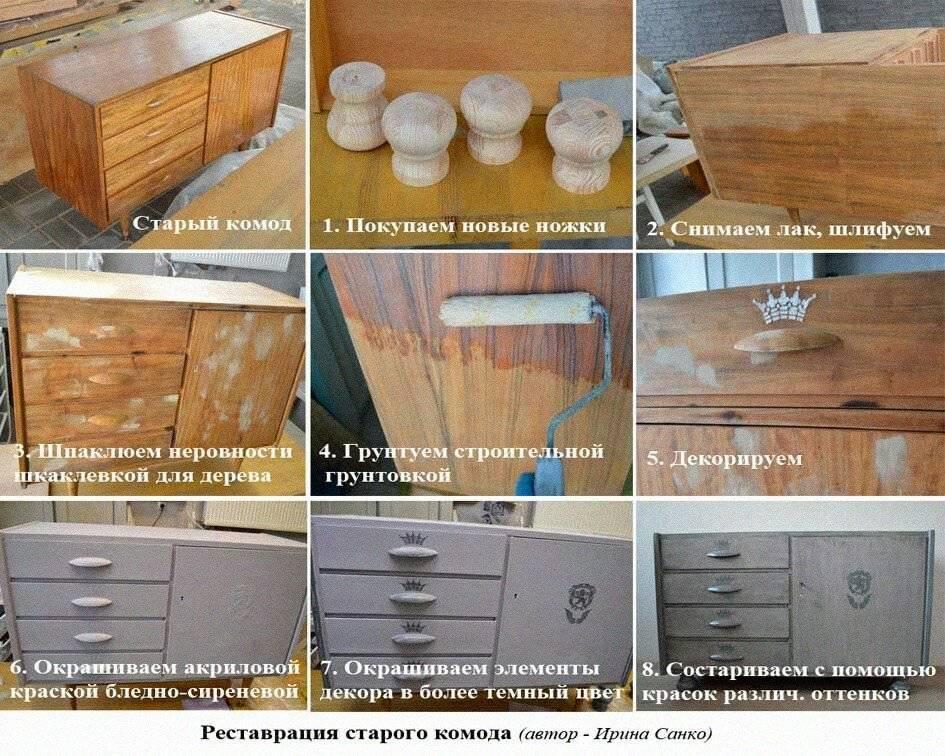 Как перекрасить старую мебель своими руками