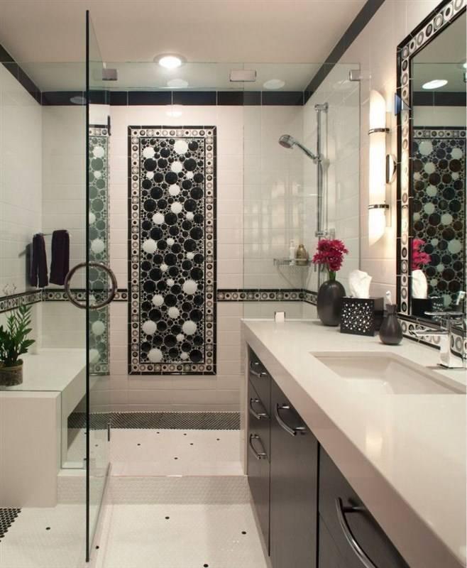 Плитка в ванной. 22 идеи дизайна для хрущевки