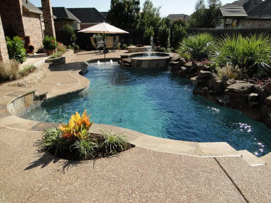 Дизайн двора частного дома   красивые идеи (+ 65 фото) !!!