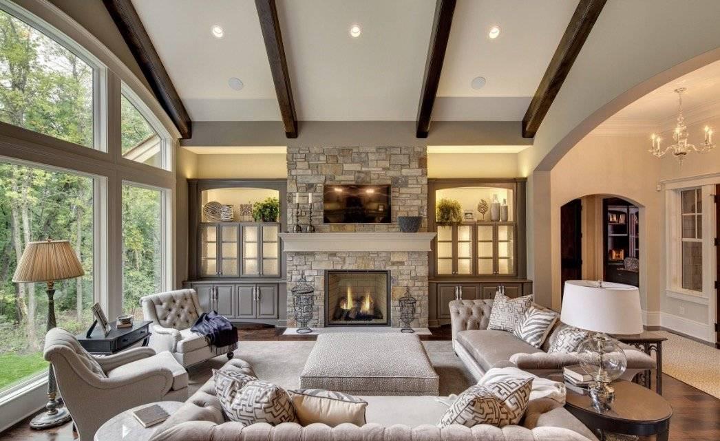 Подбираем стиль дизайна в частный дом для оформления гостиной комнаты