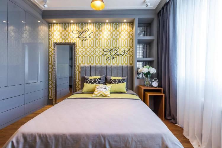 Современный стиль в маленькой спальне 9 кв м