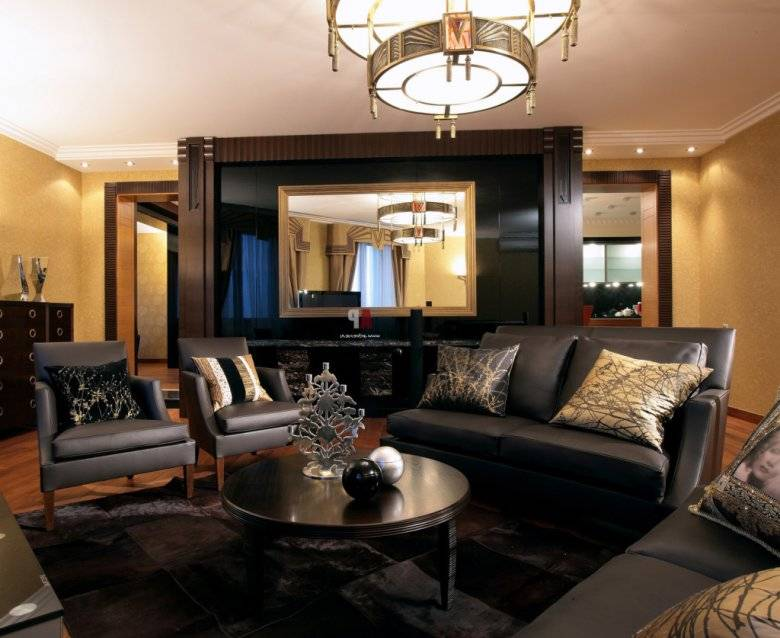 Стиль арт деко в интерьере квартиры: обои, ремонт, шторы, мебель, картины, как оформить спальню, коридор, гостиную