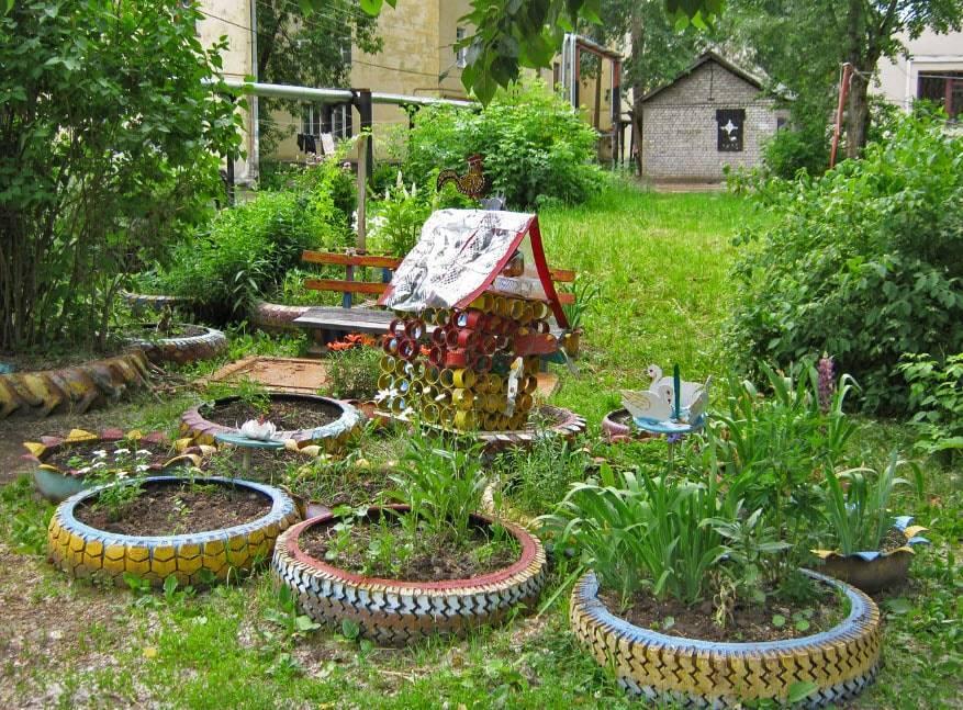 Как украсить сад своими руками - клумбы и ландшафтный дизайн