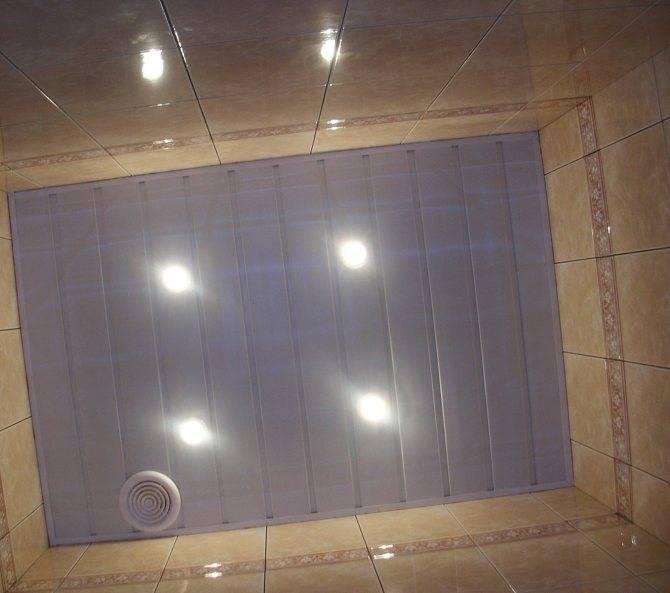 Потолок в туалете варианты отделки