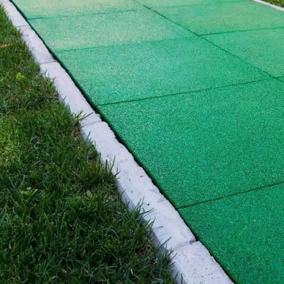 Резиновая тротуарная плитка: укладка своими руками