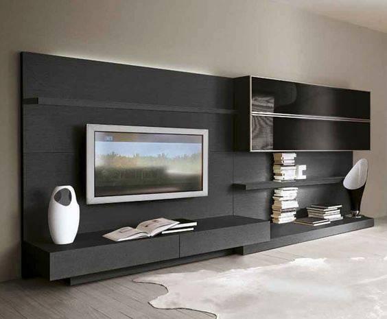 Телевизор в гостиной - 80 реальных фотографий идеального сочетания в интерьере