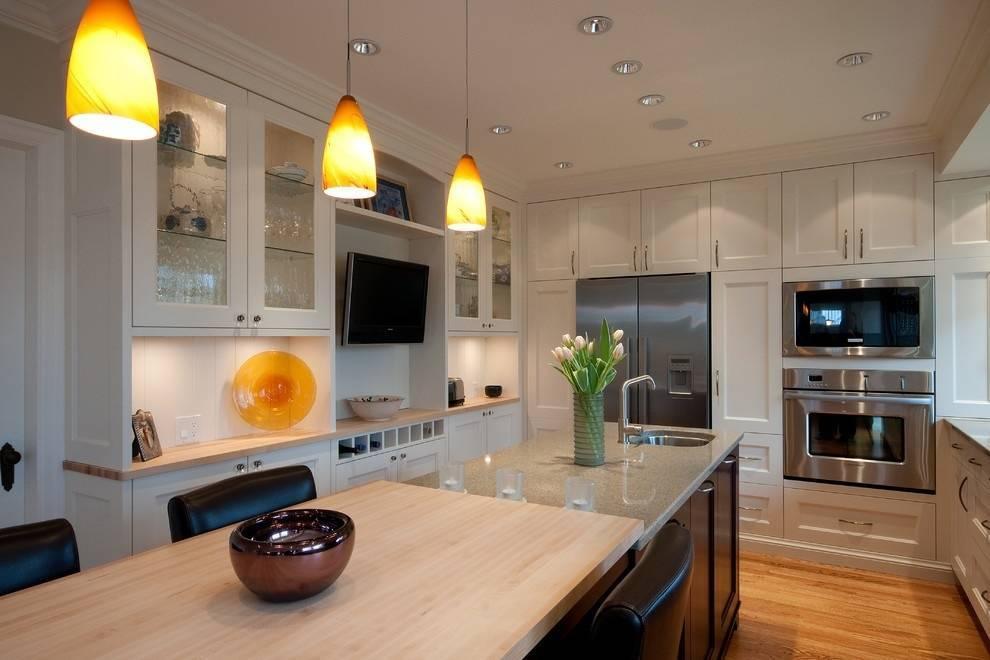 Телевизор на кухне: 47 фото, лучшие варианты размещения