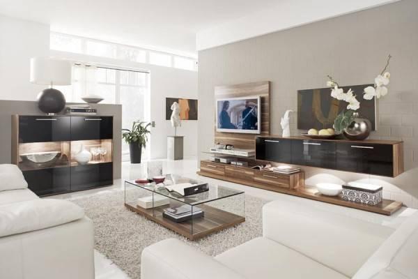 Глянцевая мебель для гостиной, на что обратить внимание