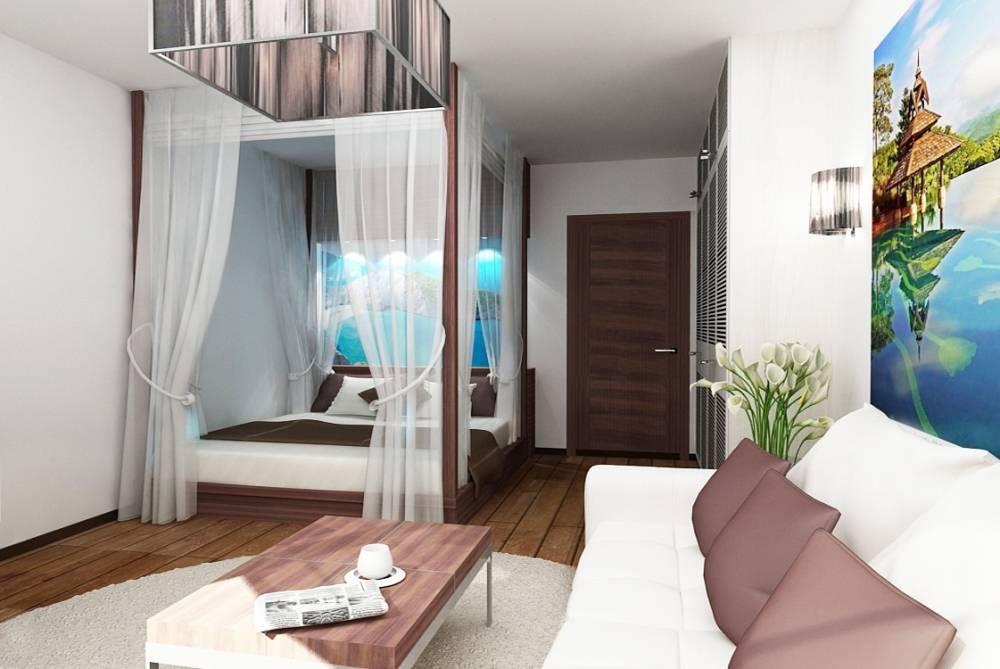 Дизайн интерьера маленькой однокомнатной квартиры: идеи, варианты планировок, зонирование