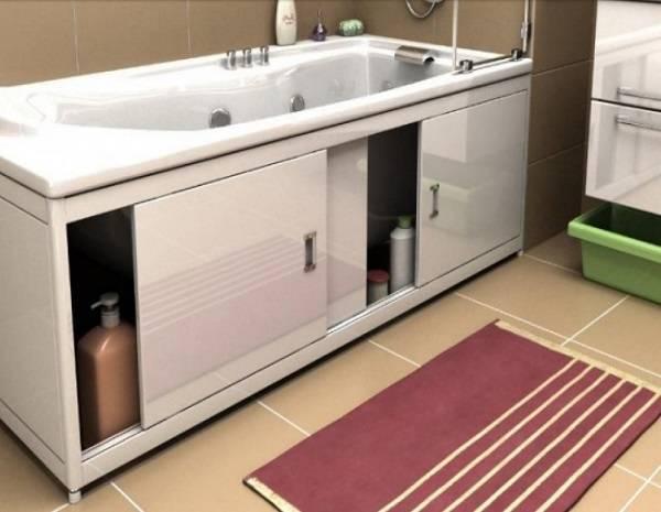 Размеры экранов под ванну