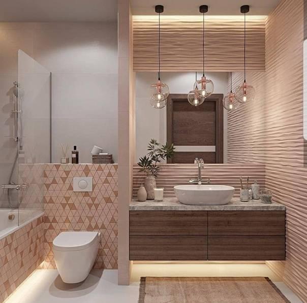Дизайн ванной комнаты — 150 фото примеров