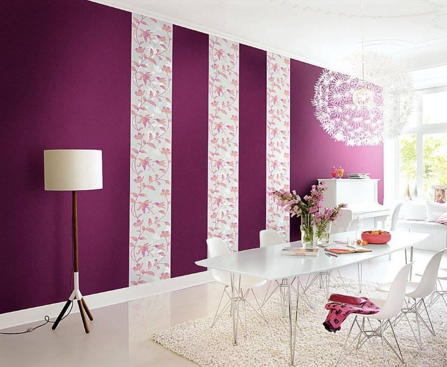 Обои-компаньоны в интерьере зала фото: как поклеить двух цветов, подбор и сочетание, возможные примеры, виды