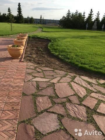 Садовая дорожка с орнаментом из гальки: пошаговая инструкция. фото.
