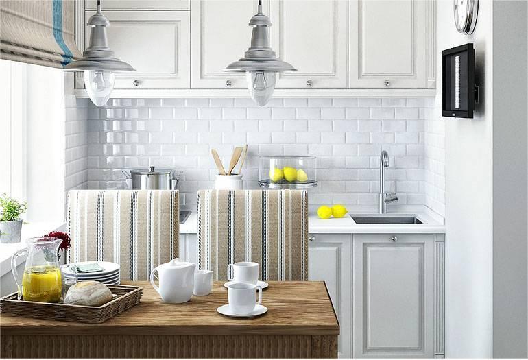 Плитка кабанчик на фартук кухни – размеры, раскладка и фото в интерьере