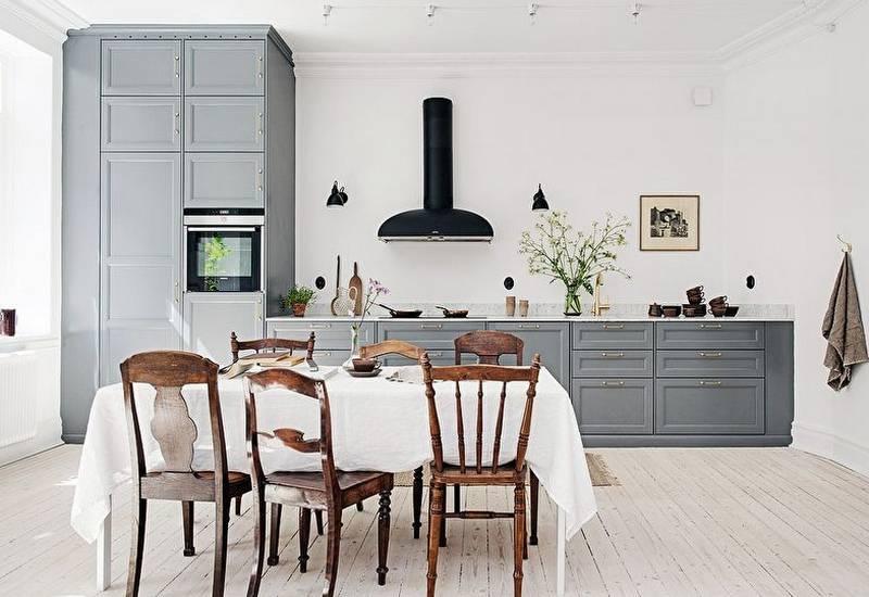 Кухня в скандинавском стиле: дизайн, декор, мебель [2019]