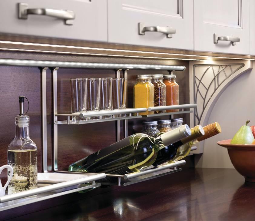 Рейлинги для кухни (50 фото): удобные «вешалки» для полезных мелочей