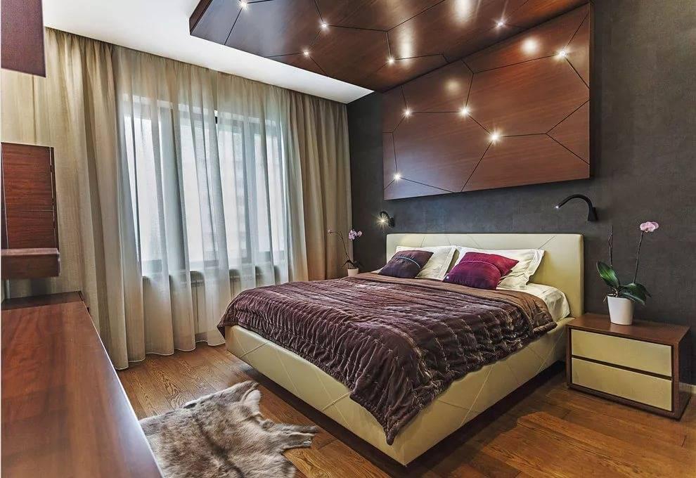 Отделка спальни: варианты, материалы, фото