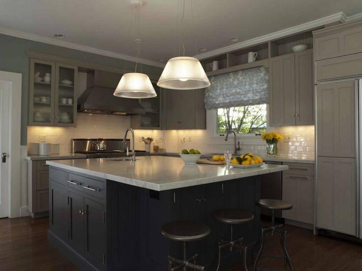 Серая кухня в интрерьере: 100 фото вариантов сочетания