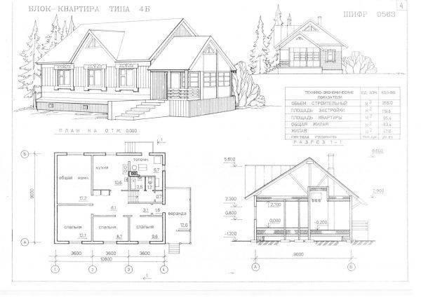 Чертежи дома от эскиза до готового проекта