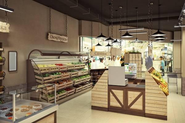 Дизайн интерьера магазина: разработка дизайна, цветовые решения | ileds.ru