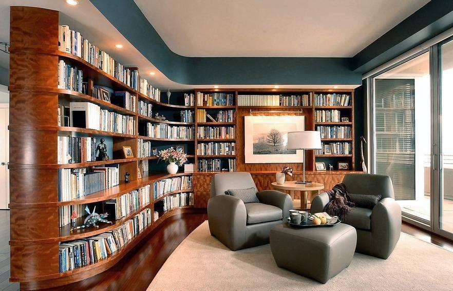 Книжные полки в интерьере +50 фото примеров - «декор» » «дизайна интерьера»